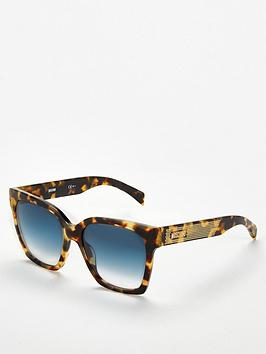 moschino-tortoise-studded-logo-arm-square-sunglasses-brown