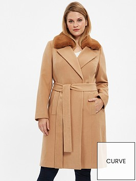 evans-faux-fur-collar-coat