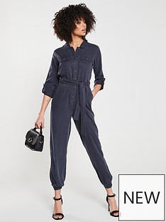 341579c31e2 V by Very Denim Look Jumpsuit - Navy