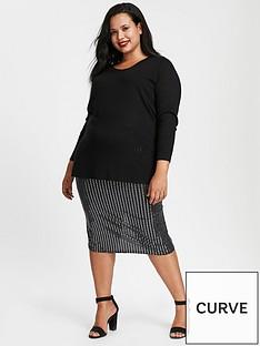 evans-sparkle-pull-on-skirt-grey