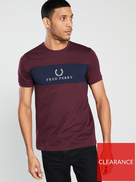 eb5bd7671 Fred Perry Embroidered Panel T Shirt