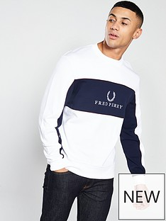 fred-perry-panel-piped-sweatshirt