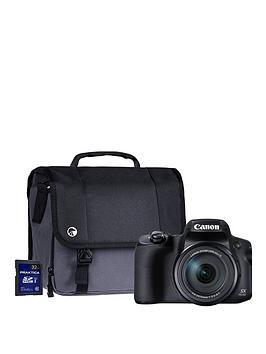 Canon Canon Powershot Sx70 Hs Black 4K 20.3Mp 65X Zoom Wifi Camera Kit Inc 32Gb &Amp; Case