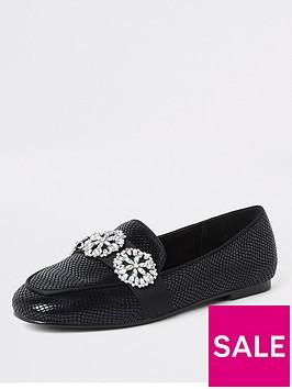 river-island-river-island-brooch-detail-loafers--black