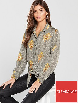 river-island-river-island-printed-tie-front-shirt--multi