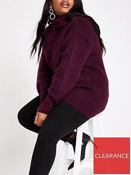 ri-plus-roll-neck-jumper--burgundy