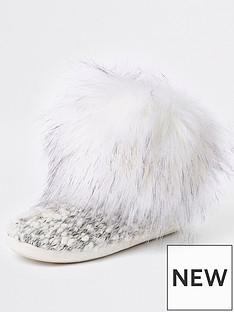 river-island-river-island-knitted-slipper-boots--cream