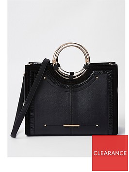 river-island-river-island-circle-handle-tote-bag--black