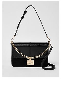 river-island-river-island-lock-front-shoulder-bag--black