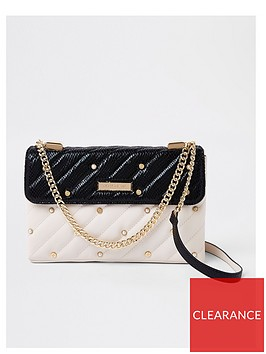 river-island-river-island-pearl-detail-quilted-bag--cream