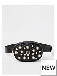 river-island-river-island-pearl-detail-belt-bag--black