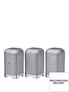 kitchencraft-lovello-tea-coffee-and-sugar-canisters--nbspshadow-grey