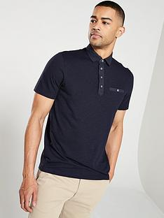 ted-baker-short-sleeved-geo-collar-polo-shirt-navy