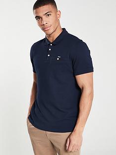 ted-baker-short-sleeved-textured-polo-shirt-navy