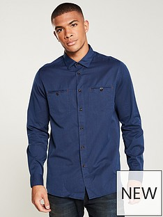 ted-baker-long-sleeved-denimnbspshirt-navy