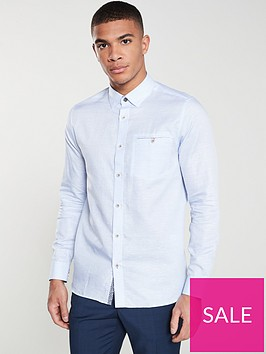 ted-baker-long-sleeved-pinstripe-shirt-blue