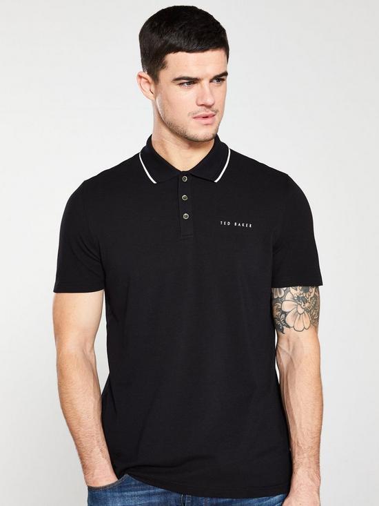 a727162faa19e0 Ted Baker Pique Polo Shirt - Black | very.co.uk