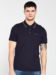 ted-baker-pique-polo-shirt-navy
