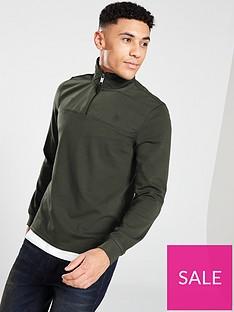 ted-baker-nylon-trim-half-zip-sweater-khaki