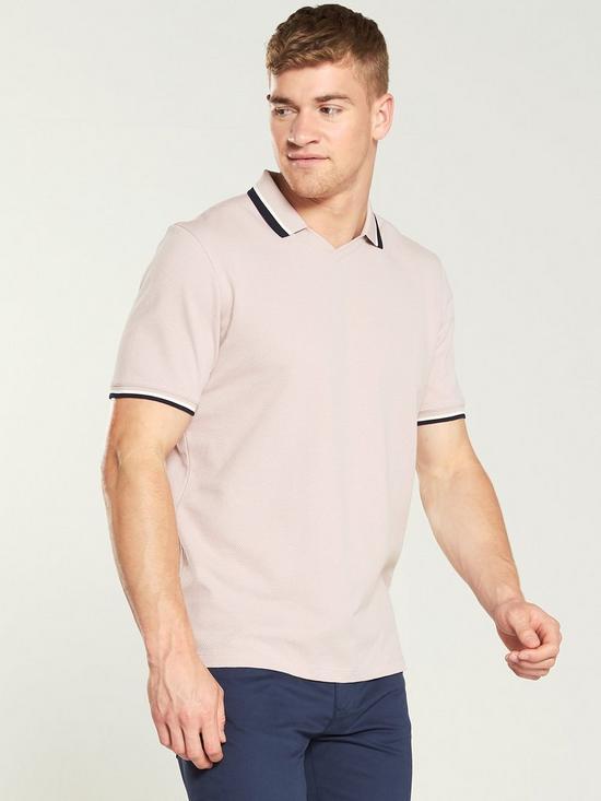e634e422b0370 Ted Baker Flat Knit Polo Shirt - Light Pink | very.co.uk