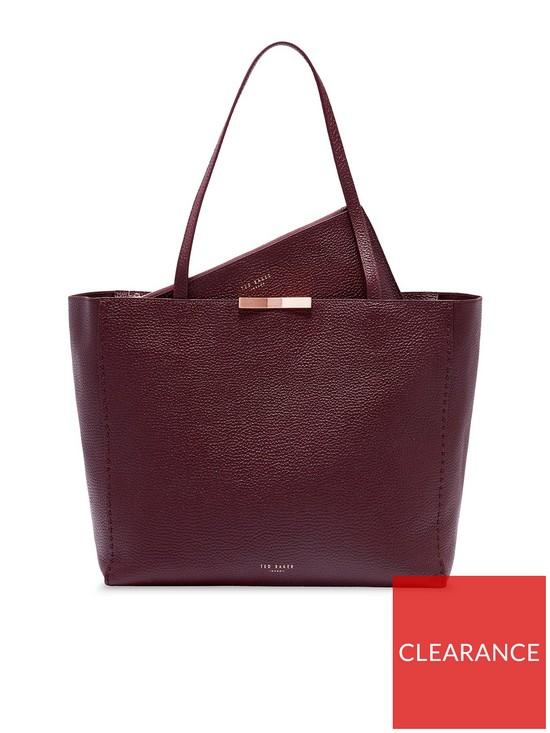 da2b03dcd4 Ted Baker Caullie Bow Detail Soft Shopper Bag - Deep Purple