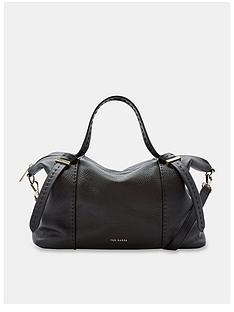 ted-baker-oellie-knotted-handle-large-leather-tote-bag-black