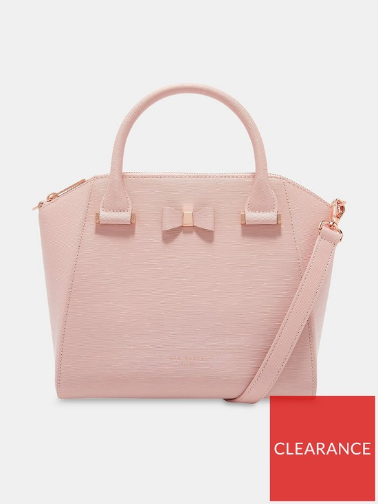 39166bf6a784 Ted Baker Cala Bow Detail Small Leather Tote Bag - Light Pink