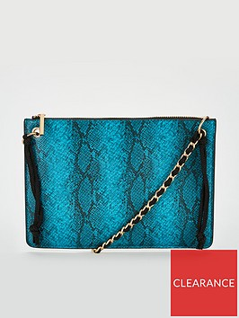 michelle-keegan-snake-print-clutch-bag-with-chain-handle-turquoise