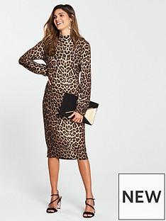 v-by-very-leopard-print-jersey-dress-printed