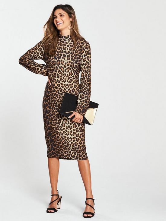 ced6ac94dce5 V by Very Leopard Print Jersey Dress - Printed