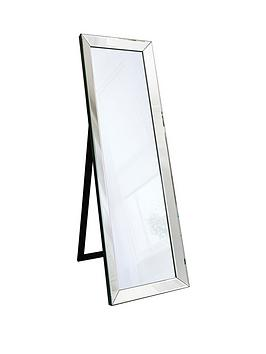 Product photograph showing Gallery Luna Cheval Mirror With Stand