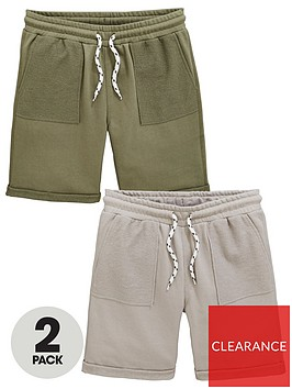 v-by-very-boys-2-pack-textured-contrast-pocket-shorts-multi
