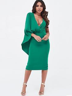 lavish-alice-one-shoulder-caped-midi-dress-emerald-green