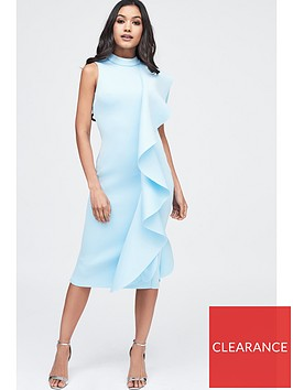 lavish-alice-scuba-frilled-midi-dress-dusty-blue
