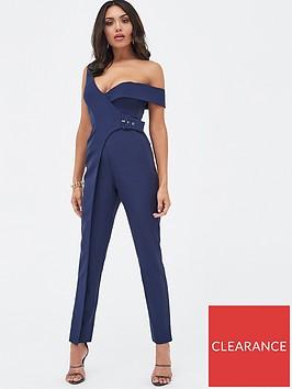 lavish-alice-buckle-trim-wrap-jumpsuit