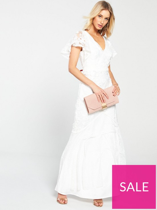 439d82be5d U Collection Forever Unique Bell Sleeve Lace Maxi Dress - Ivory ...