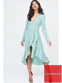 lavish-alice-frill-hem-wrap-front-shirt-dress-sage
