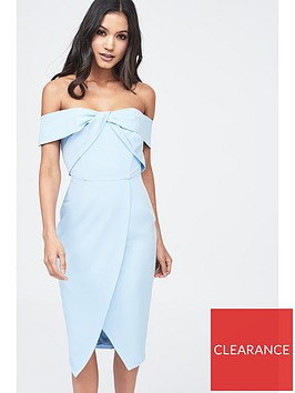 lavish-alice-woven-twist-bardot-midi-dress-cornflower-blue