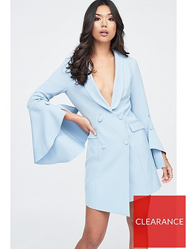 lavish-alice-bell-ruffle-sleeve-blazer-dress-cornflower-blue