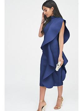 lavish-alice-scuba-frilled-midi-dress-cobalt-blue