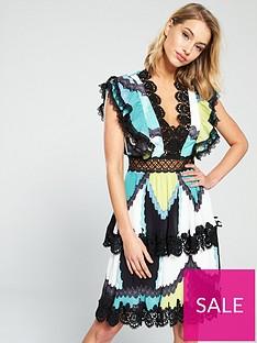 forever-unique-forever-unique-lace-trim-colourblock-mini-dress