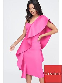 lavish-alice-exaggerated-frill-one-shoulder-scuba-midi-dress-pink
