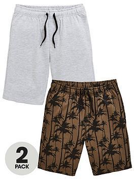 v-by-very-boys-2-pack-palm-printed-shorts-blackgrey