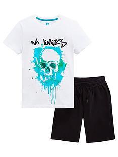 v-by-very-boys-no-limits-skull-t-shirt-amp-short-set-blackwhite