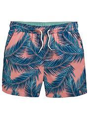 b1dcb45637144 V by Very Boys Palm Print Swim Shorts - Multi