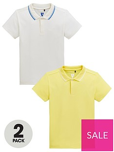 a4f129bc1 V by Very Boys 2 Pack Tipping Collar Polo Shirts - Multi