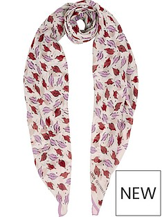 lulu-guinness-beauty-spot-square-scarf--nbspcreamred