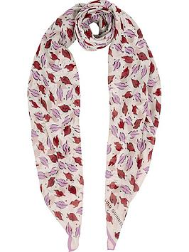 lulu-guinness-beauty-spot-square-scarf--nbspcreamred