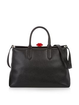 lulu-guinness-grainy-leather-marilyn-totenbspbag-black