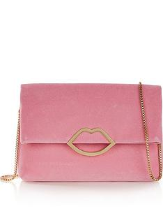 lulu-guinness-issy-lips-velvet-cross-body-bagnbsp--pink